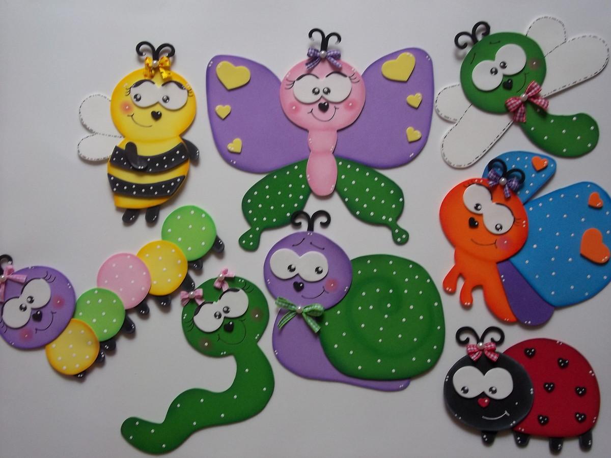 decoracao de aniversario jardim das borboletas: > Decoração de Festa Infantil > KIT APLIQUES BICHINHOS DE JARDIM