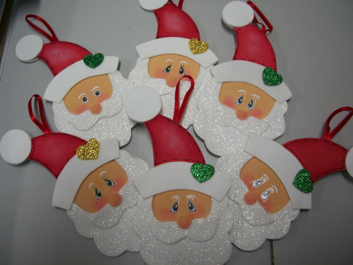 Enfeite De Natal ~ Enfeite de Natal Papai Noel ARTES BIA Elo7
