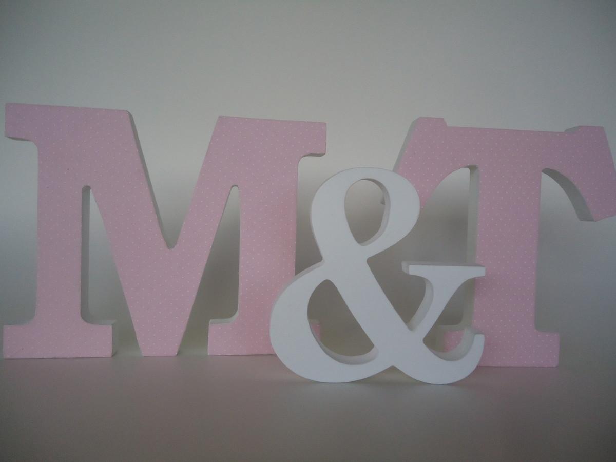 Letras decorativas para festas fuxicando arte em tecido - Letras decorativas pared ...