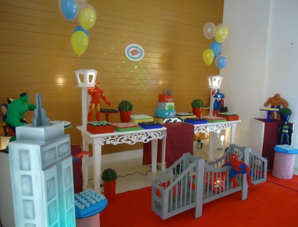 decoracao festa super herois:festa-super-herois-decoracao-festa-super-herois