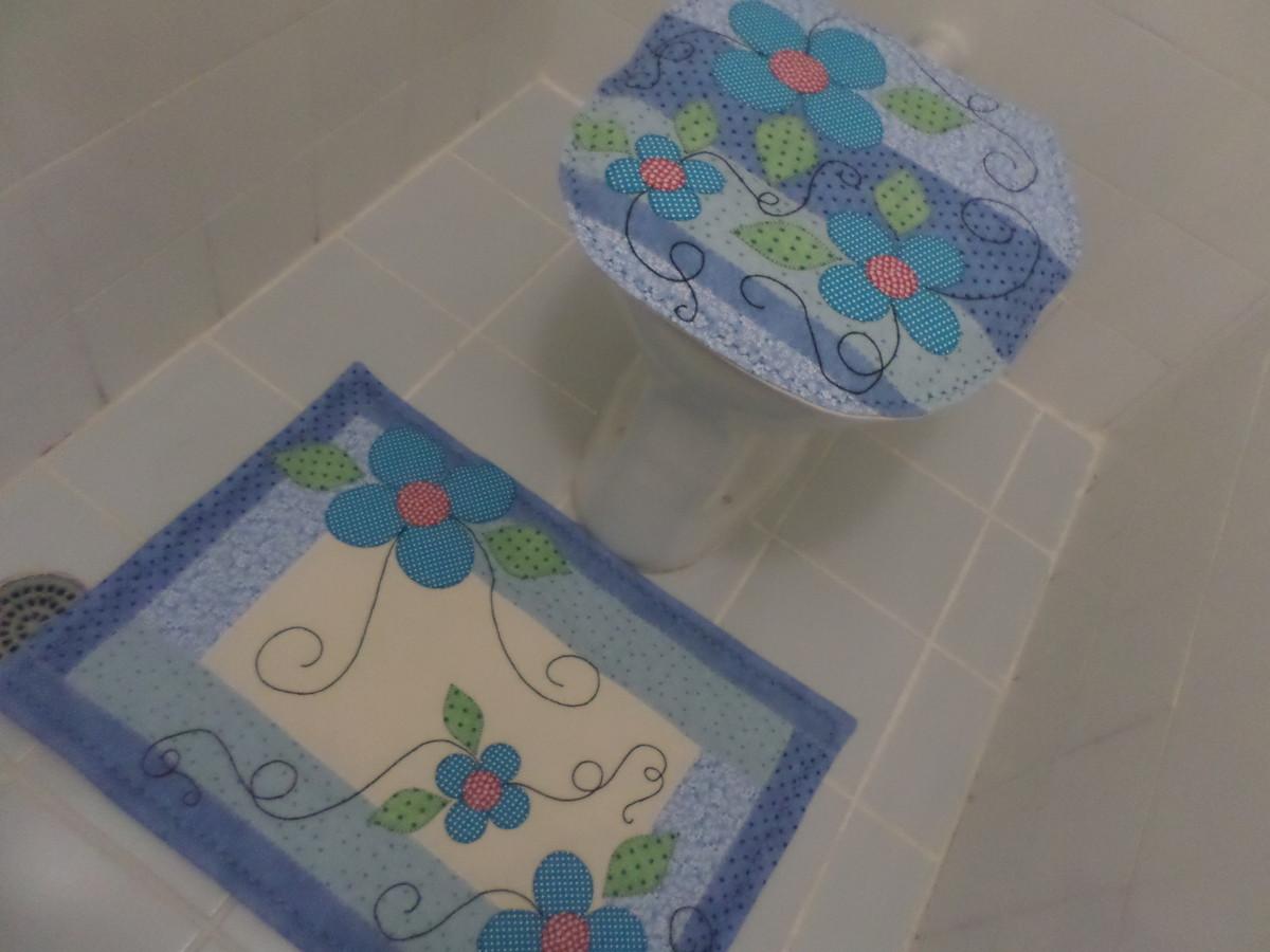 Jogo para Banheiro ArtesAna Artesanato Elo7