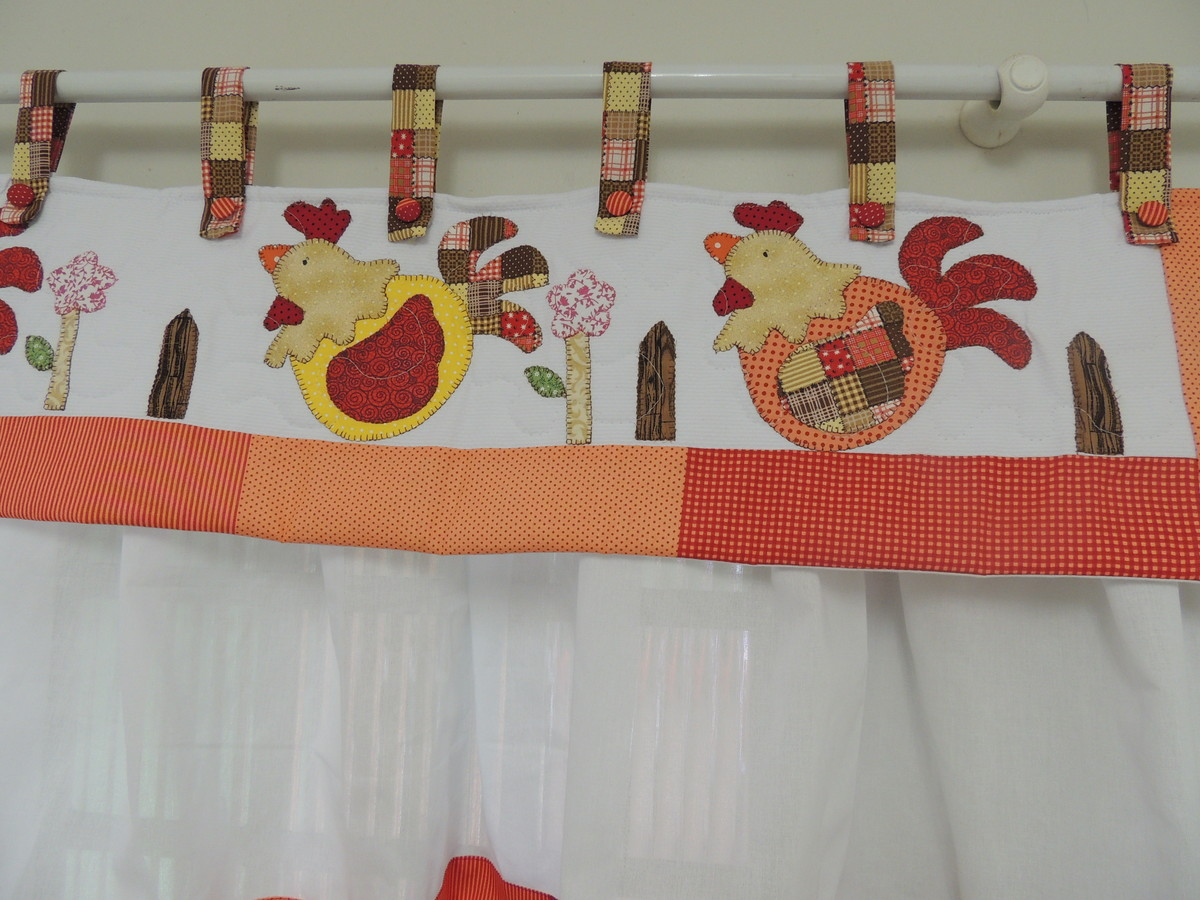 cortina de cozinha galinha patchwork cortina cortina de cozinha