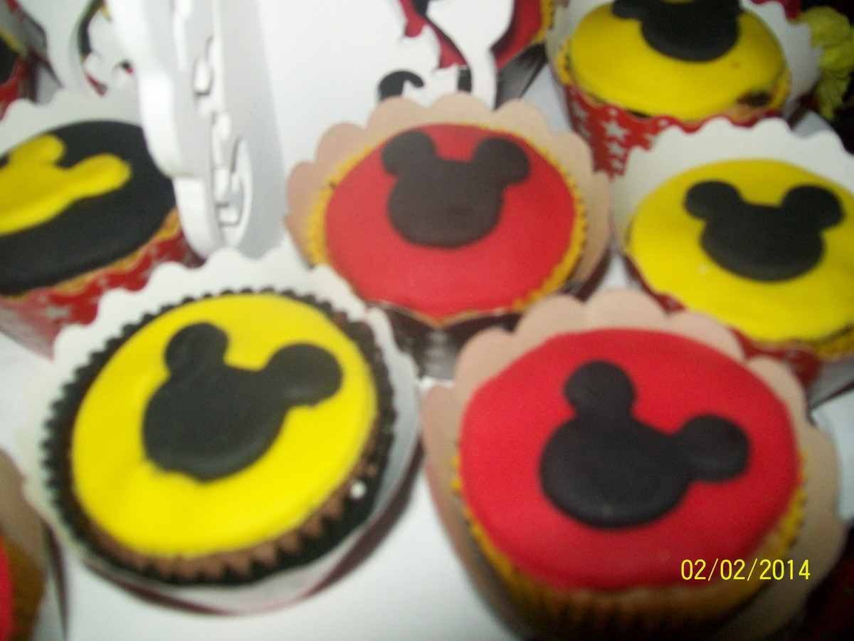 Cup Cake do Mickey Cup Cake do Mickey