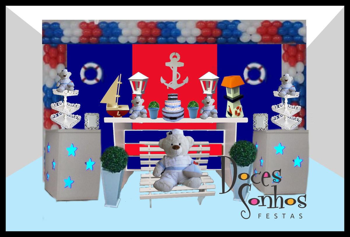 decoracao festa urso marinheiro: Decoração de Festa Infantil > Decoração provençal Urso Marinheiro
