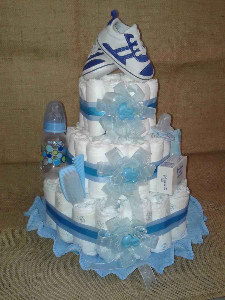 de fraldas tema azul cha de fralda bolo de fraldas tema azul bolo de