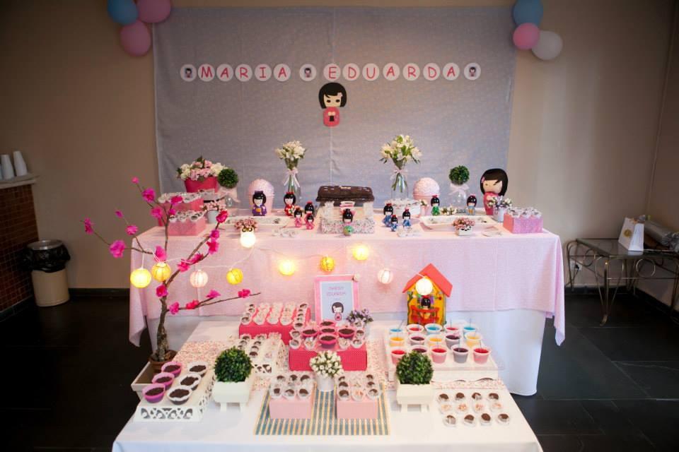 decoracao festa kokeshi: Festas > Decoração de Festa Infantil > Decoração de festa tema