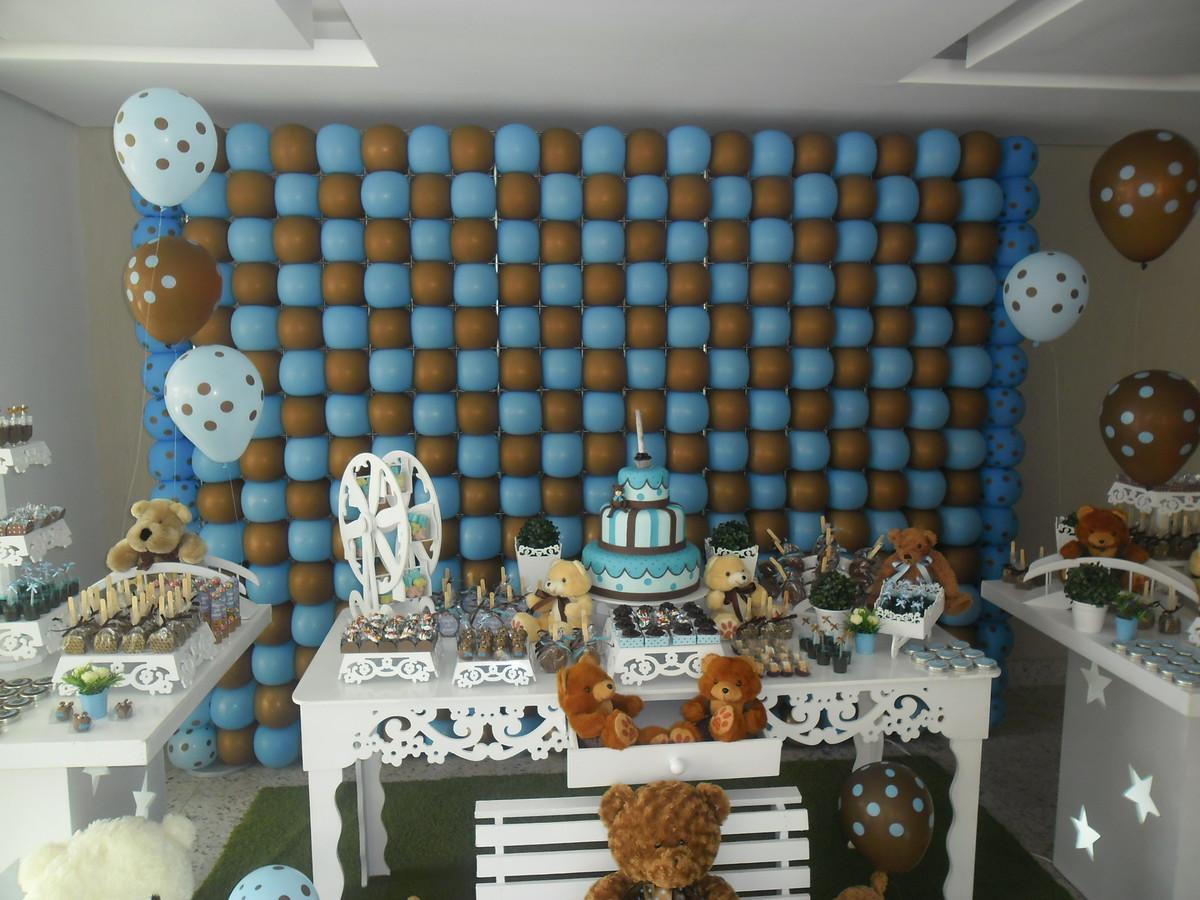 decoracao festa urso azul e marrom:urso azul e marrom festa provencal urso azul e marrom