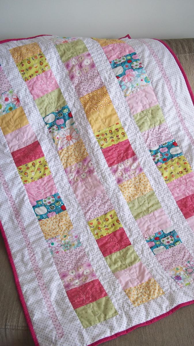 Colcha manta bananadoce patchwork elo7 - Colcha patchwork ...