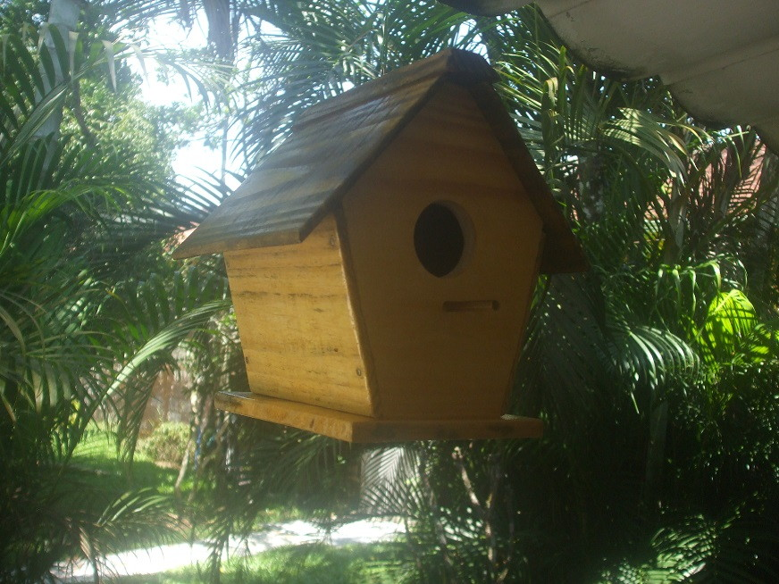 Artesanato Dos Acores ~ Casinha de Passarinho Modelo Chalet marcenaria boraceia Elo7