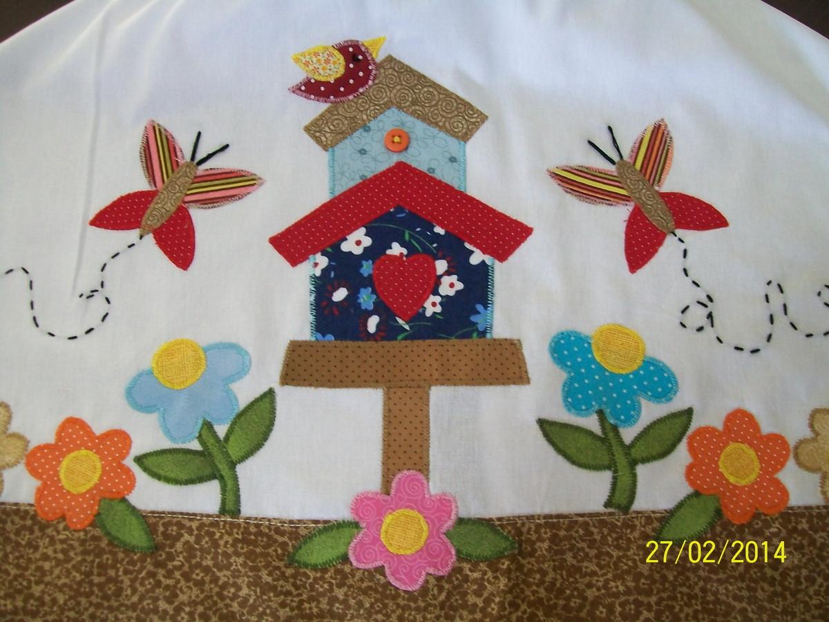 Capa para gal o casa de passarinhos ateli sandra alves - Casas de patchwork ...