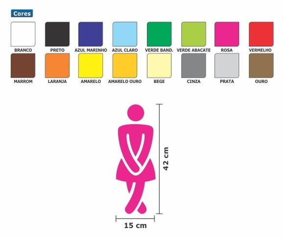 Adesivo de porta de banheiro feminino t  Adesivos de Parede com Frete Grátis -> Banheiro Feminino Desenho