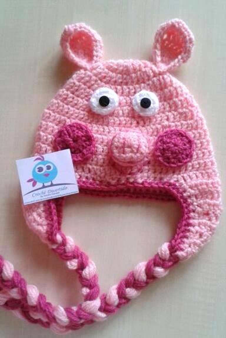 How To Crochet Peppa Pig Purse Bag Free Pattern Tutorial By Marifu6a : Gorro Peppa Pig Crochet Black Hairstyle and Haircuts