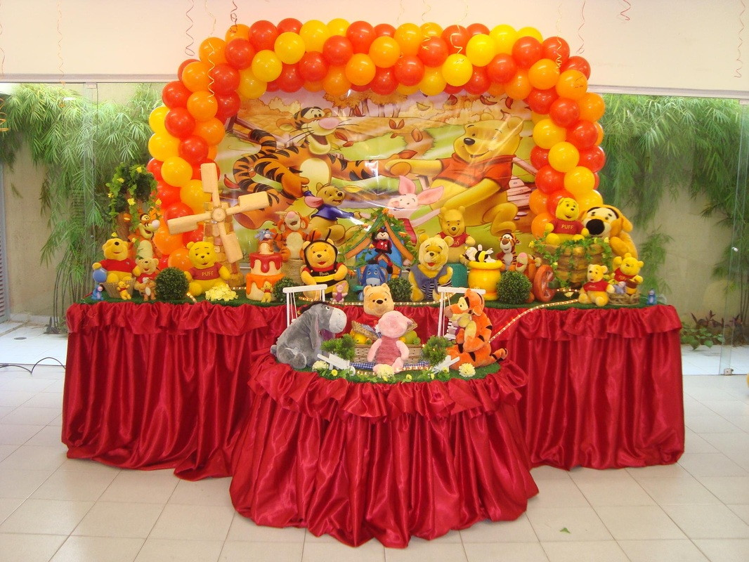 Decoração de festa Ursinho Pooh  Rede Festas Decorações  Elo7