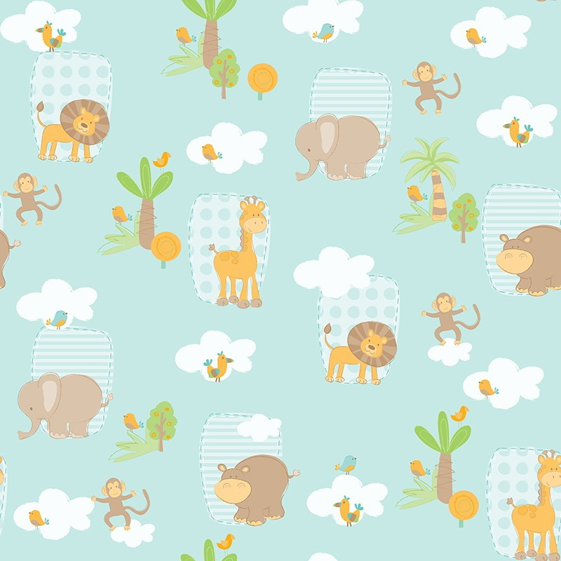 Papel de parede infantil bambinos b3300 anna decor elo7 for Papel de pared infantil
