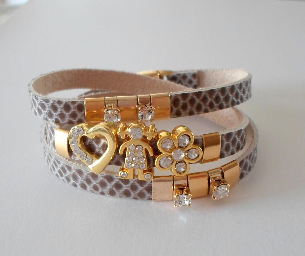 Wrap bracelete cobra figuras em strass no Elo7 ...
