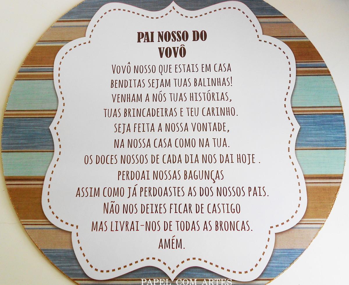 """Vovô Na Web Mensagens De Superação 1: Quadrinho """"Pai Nosso Do Vovô"""" No Elo7"""
