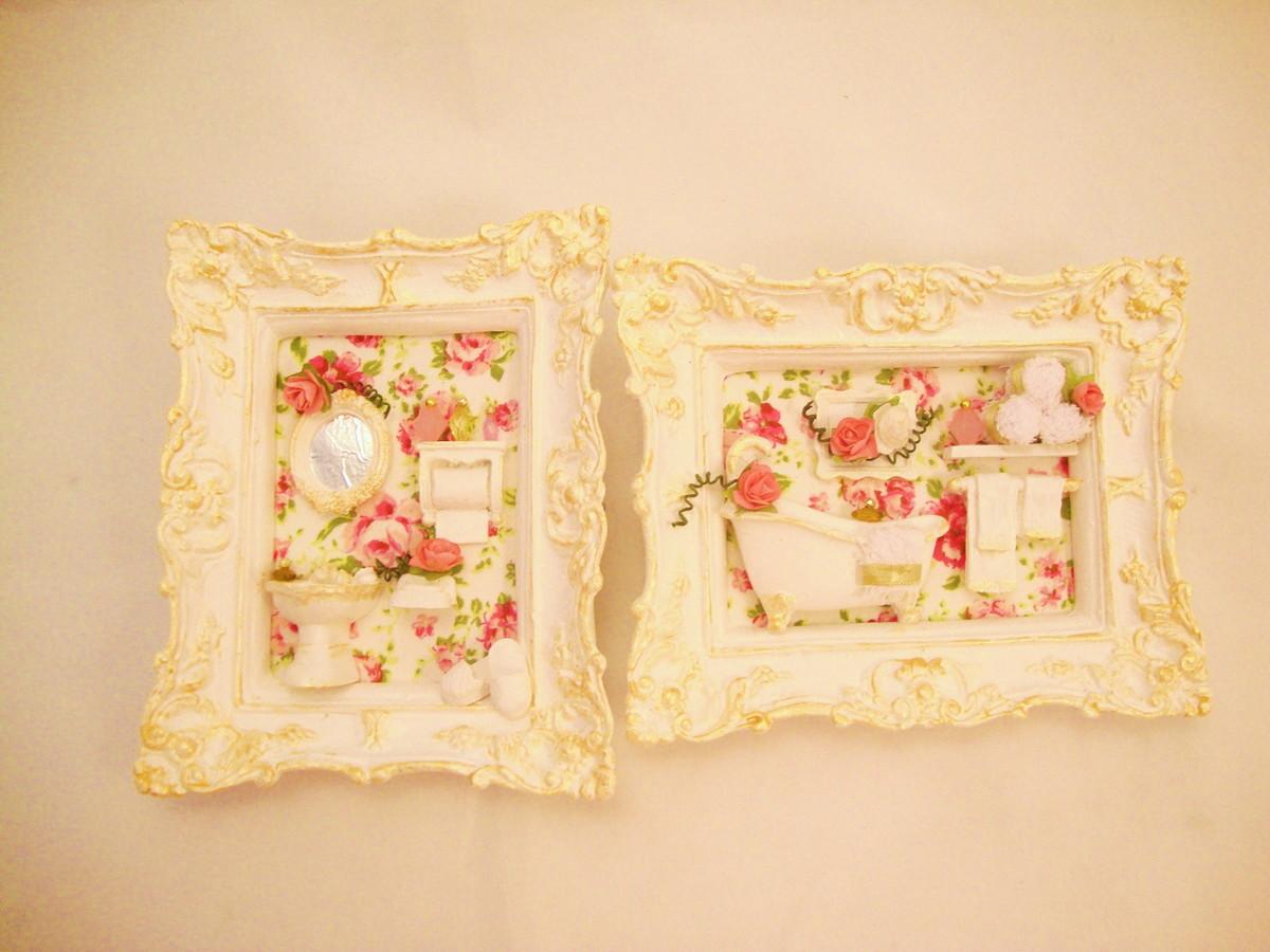 dupla pia banheiro 4 decoracao miniaturas dupla pia banheiro 4 quadros #B91218 1200x900 Banheiro Com Lavabo Externo
