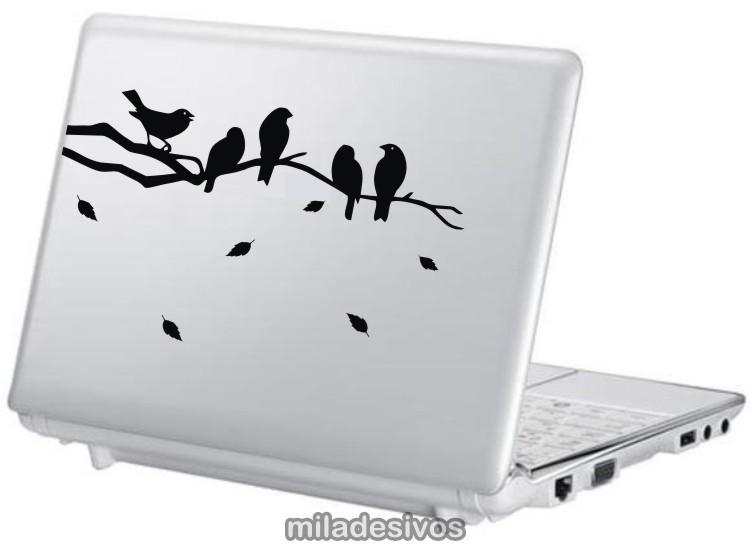 Artesanato De Croche Para Banheiro ~ Adesivos notebook passarinhos no galho no Elo7 Paredes decoradas com adesivos (3F478D)