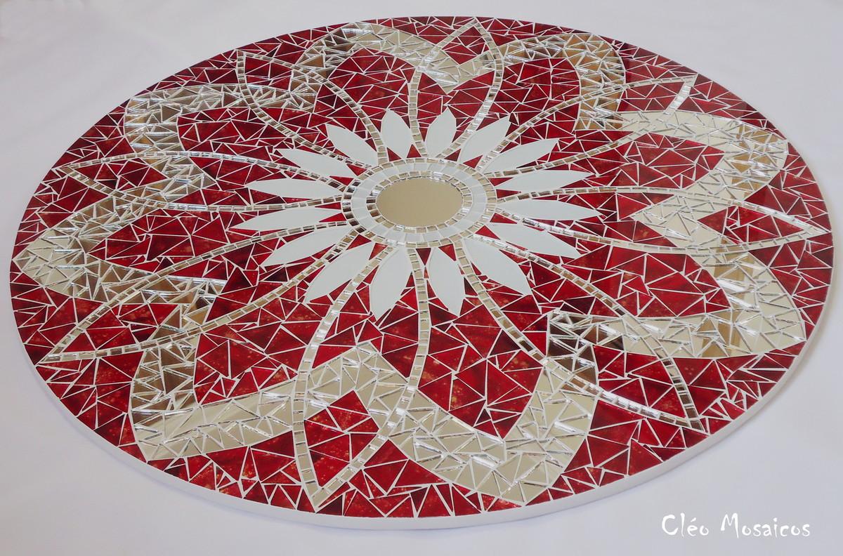 Mandala em mosaico 70cm cl o mosaicos elo7 for Cuadros mandalas feng shui decoracion mandalas