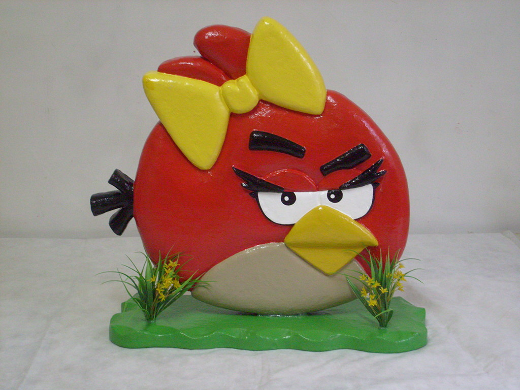 Personagem Angry Birds: ANGRY BIRDS - Personagem Semi Esculpido