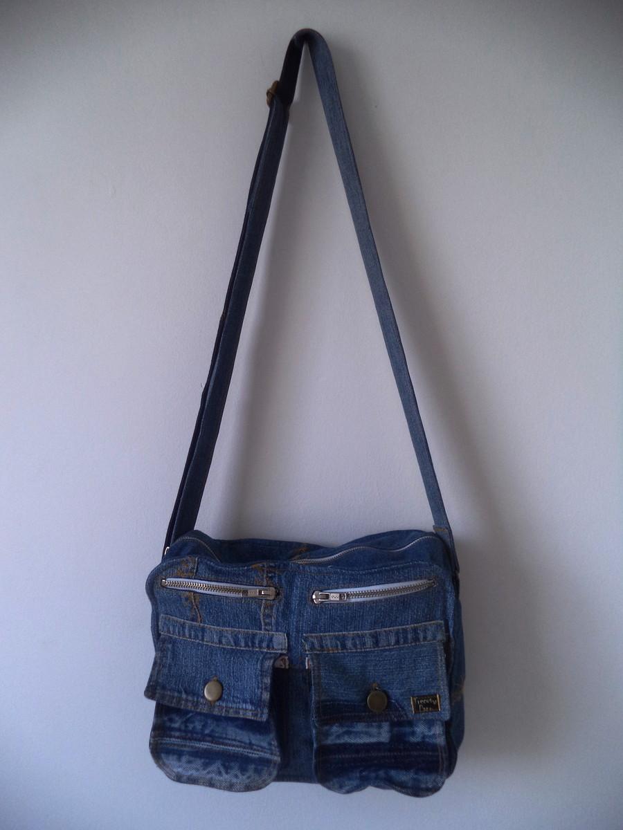 Bolsa De Tecido Jeans Passo A Passo : Bolsa jeans tiracolo trecos de pano elo