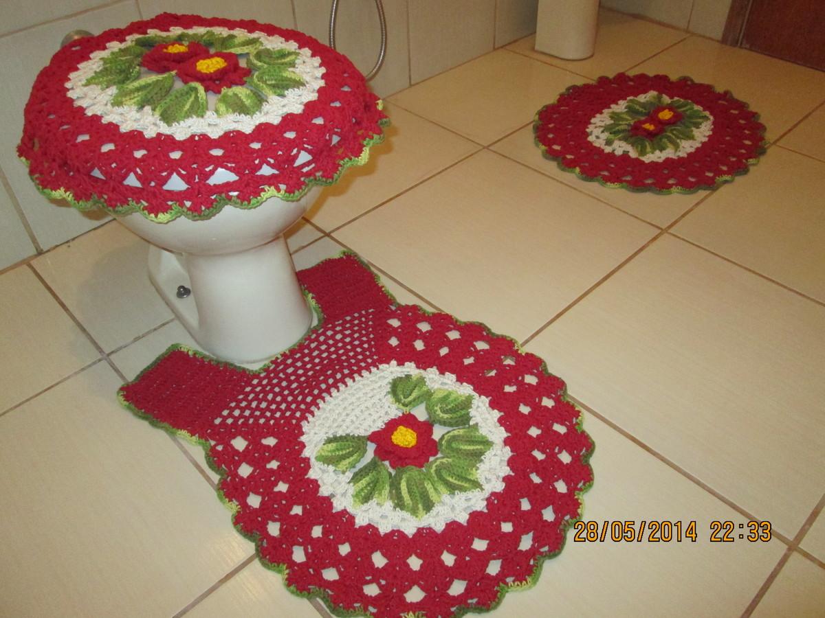 jogo de banheiro 3 pecas croche jogo de banheiro 3 pecas em croche  #A82337 1200 900