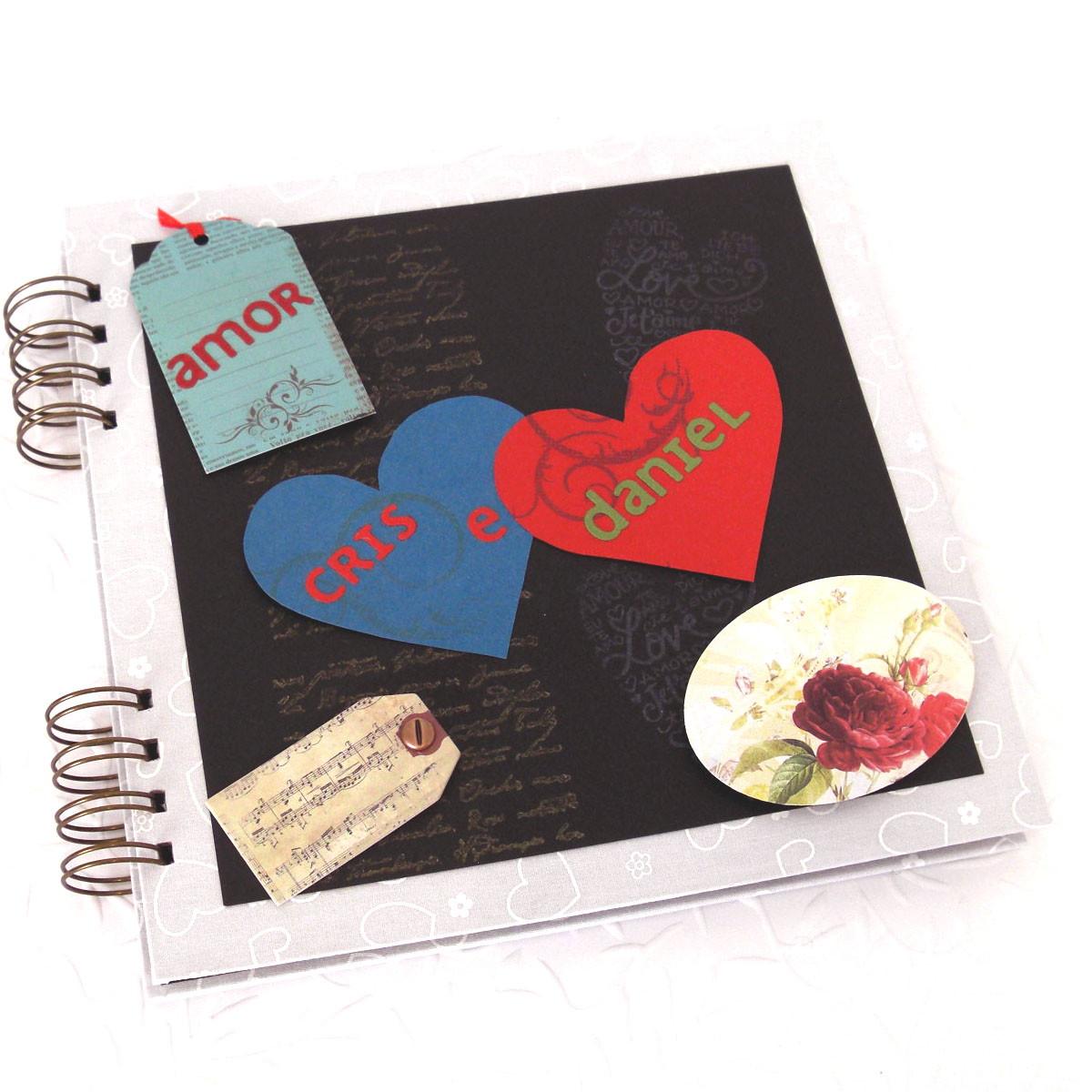 Lbum romance p ginas decoradas talento criativo elo7 for Paginas decoradas