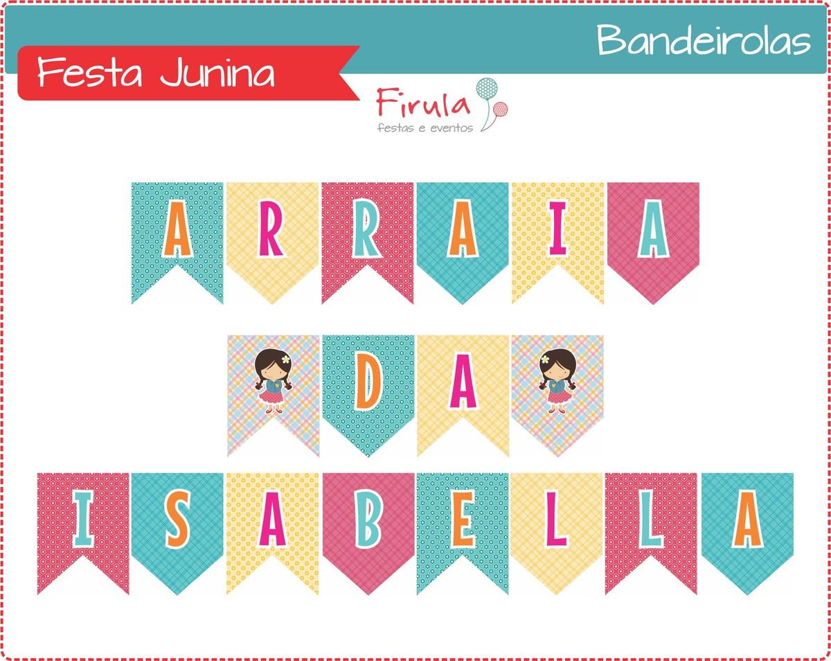 Kit Digital Bandeirolas Festa Junina No Elo7 Firula