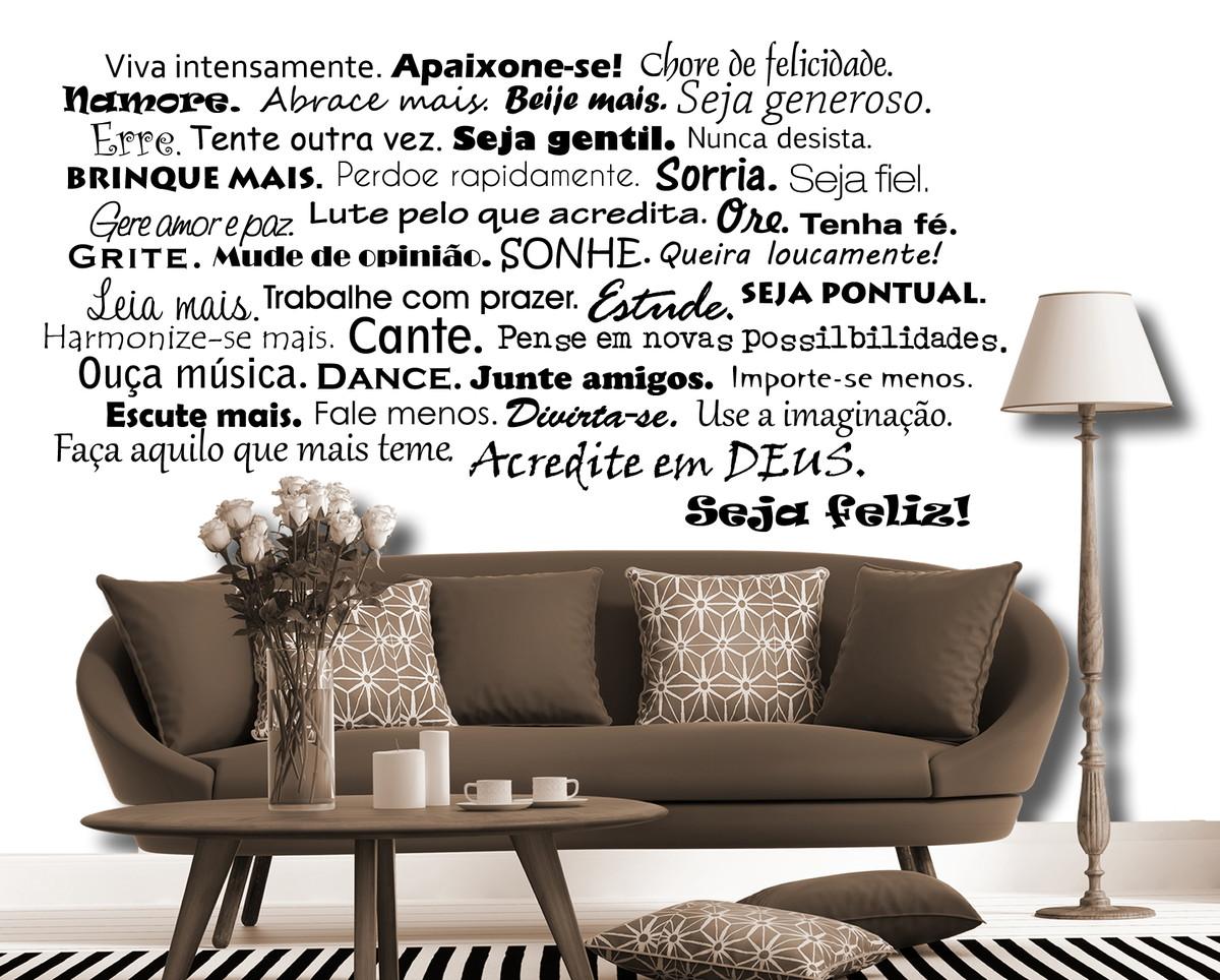 """Adesivos Decorativos De Parede Mandalas ~ Adesivo de parede""""frases"""" Decoreacasa Elo7"""