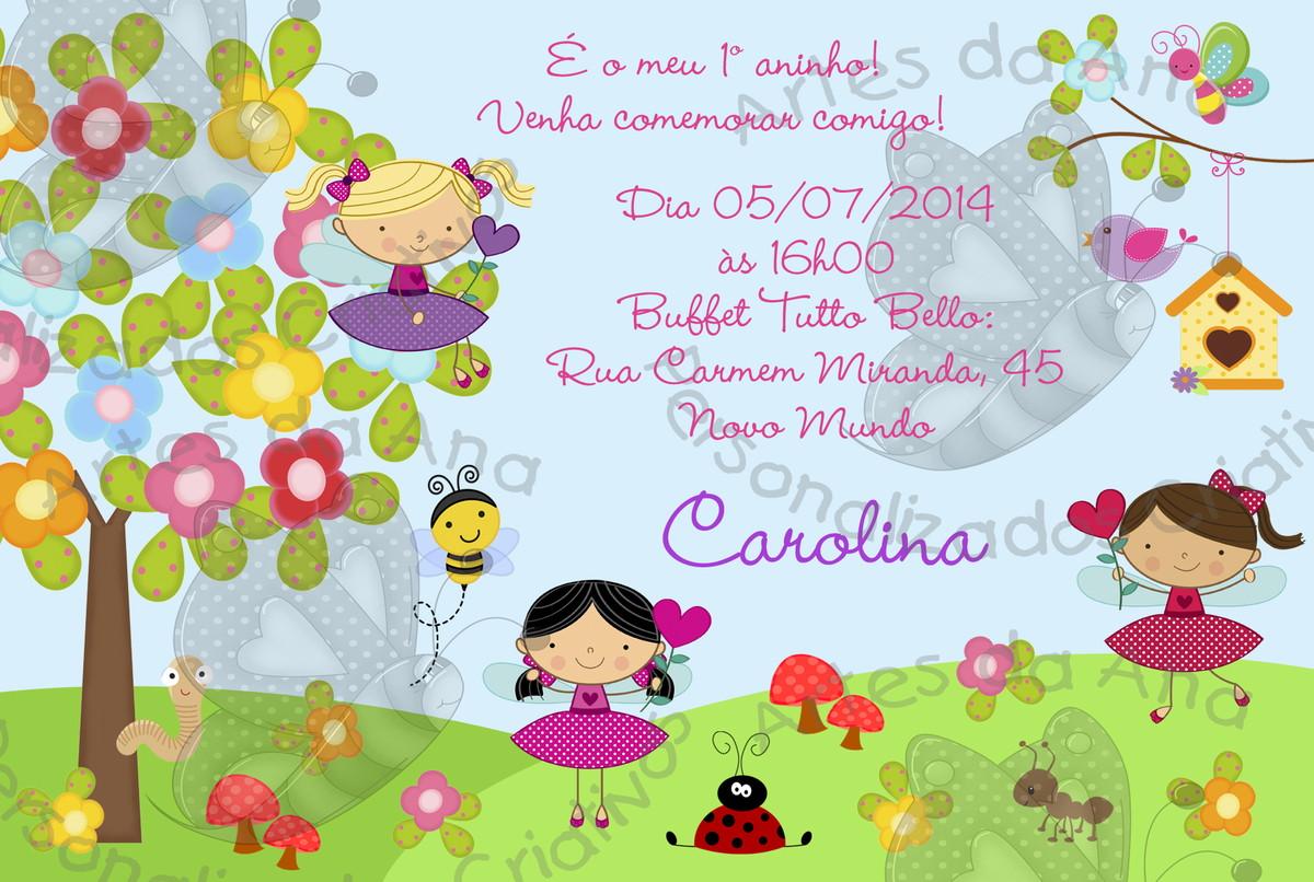 festa jardim convite : festa jardim convite: Festas > Convites de Aniversário Infantil > Convite Jardim com Fadas