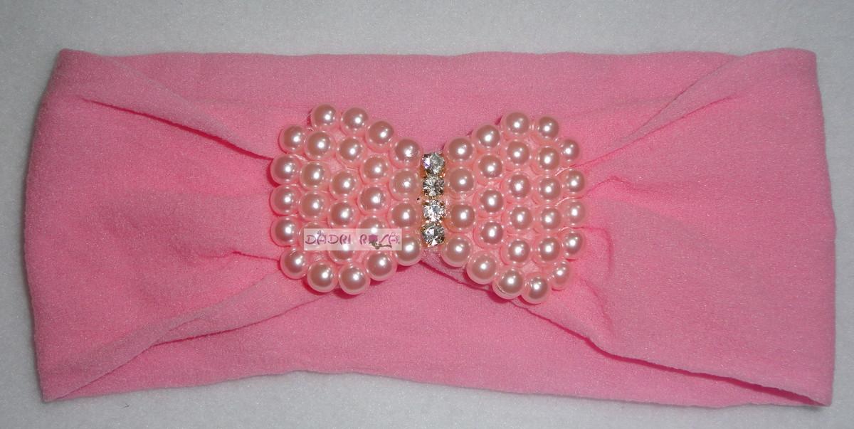 de bebe laco de perolas c strass dadri rosa faixa de bebe laco de