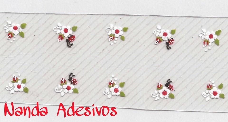 Artesanato Mdf Osasco ~ Adesivo Joaninha Cód A157 no Elo7 Nanda Adesivos Decorativos Para Unhas (42B