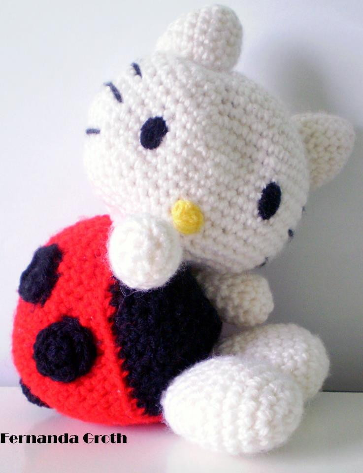 Amigurumi Rana : Amigurumi Hello Kitty Joaninha Fernanda Groth ...