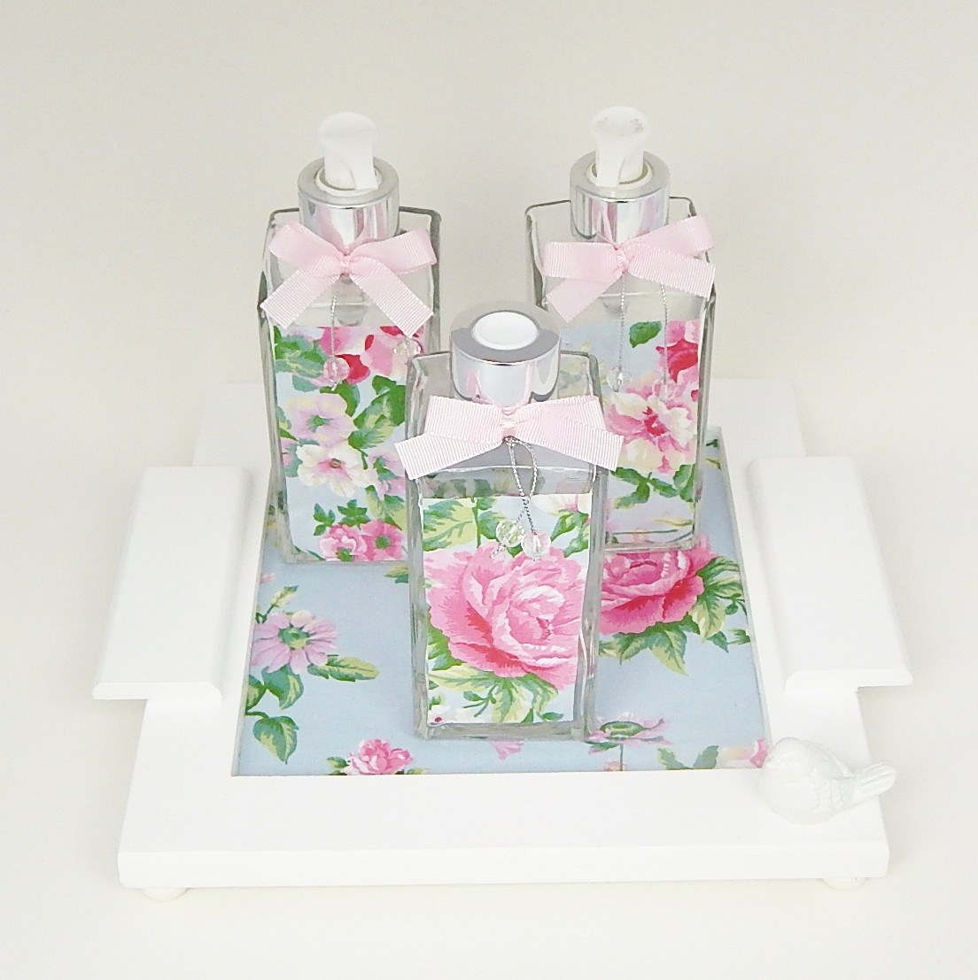 kit lavabo floral ateli pati arte for babies elo7. Black Bedroom Furniture Sets. Home Design Ideas