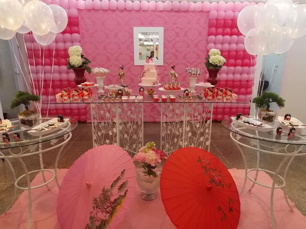 decoracao festa kokeshi:Mesa Kokeshi