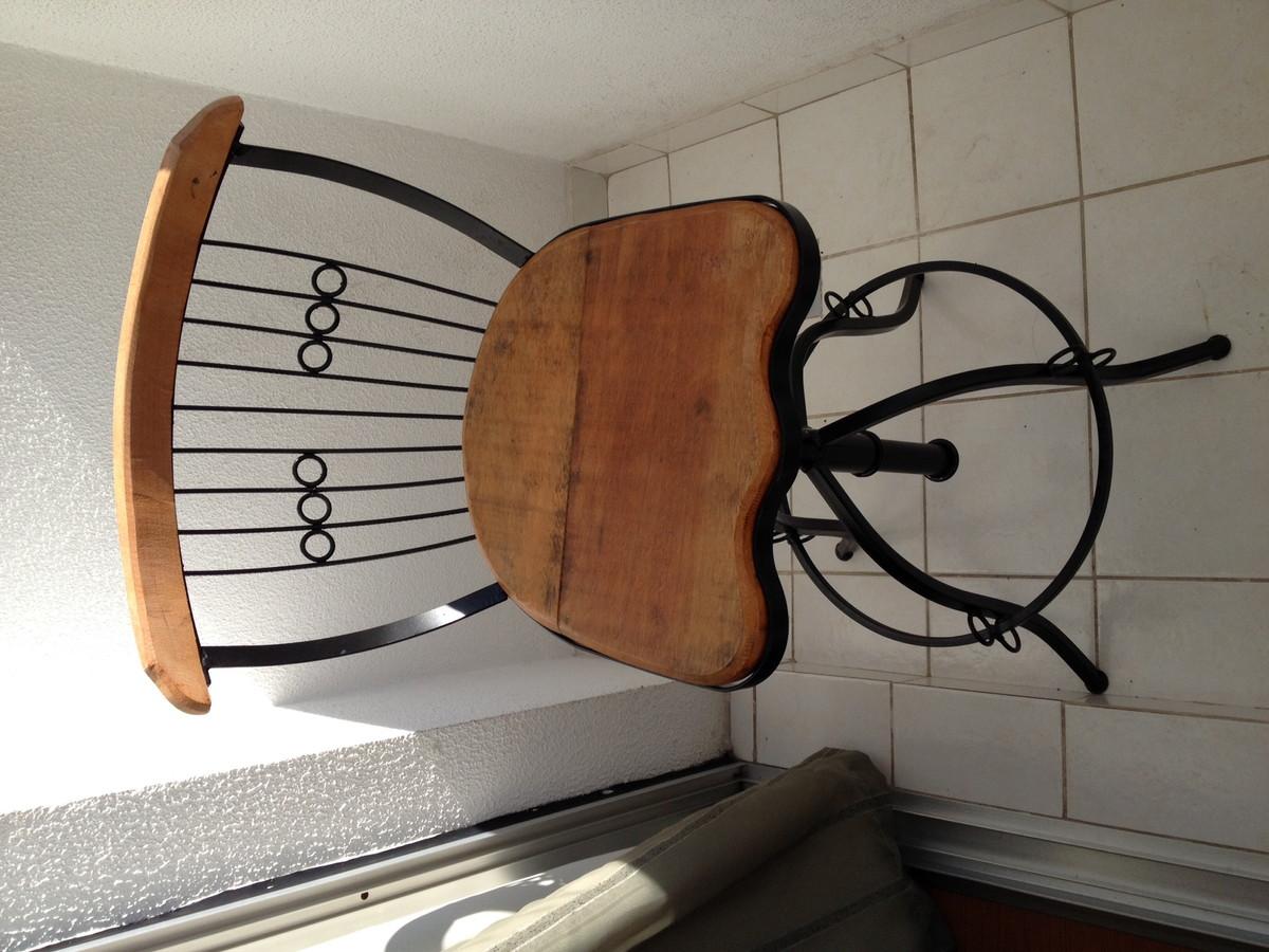 banco de ferro e madeira girar banco de ferro e madeira cadeira Zoom #714328 1200x900
