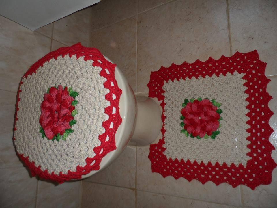 Jogo De Banheiro Completo : Jogo de tapetes completo para banheiro tatynha artes em