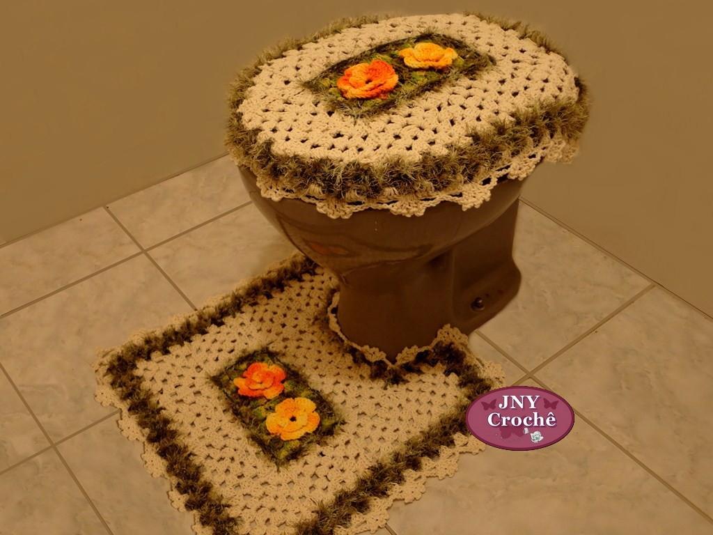 jogos de decoracao de jardim:jogo de banheiro de croche meu jardim  #C33B08 1024 768
