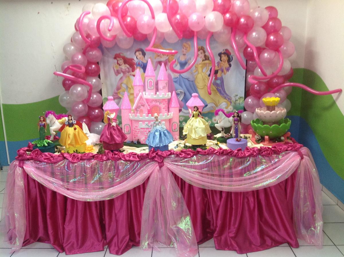Decoraç u00e3o Princesas Disney Aluguél Arca da Vida Festas Elo7 -> Decoração De Festa Das Princesas Da Disney