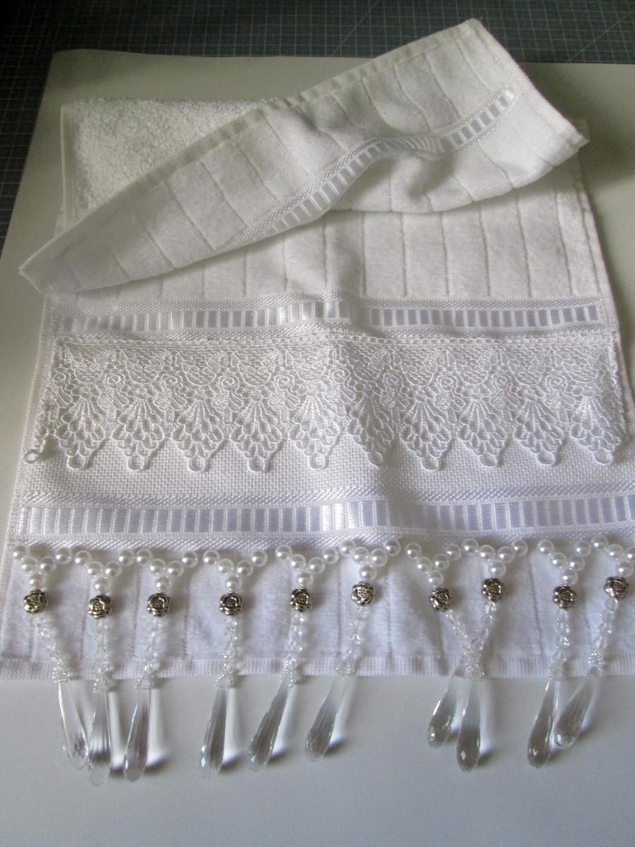 decoracao toalha lavabo: toalha lavabo com perolas decoracao toalha lavabo com perolas toalha