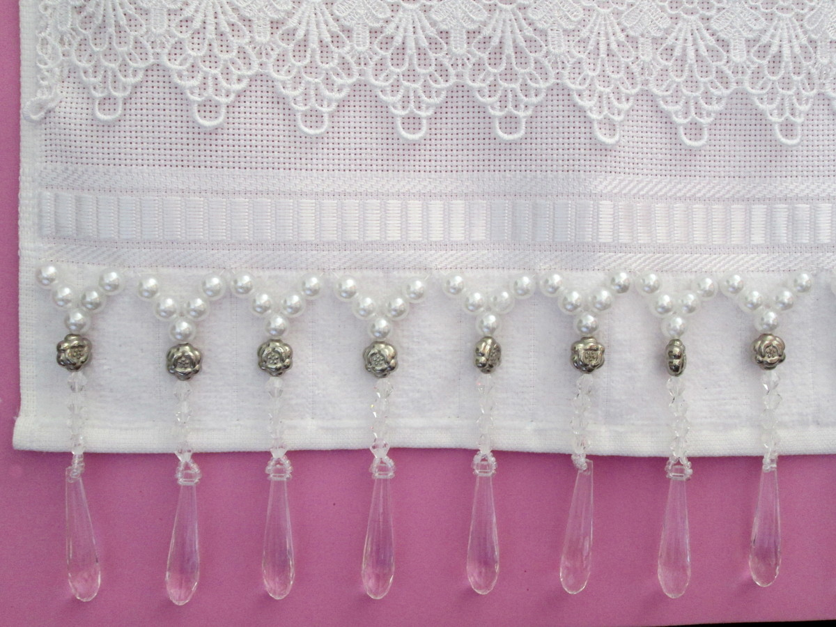 decoracao toalha lavabo:toalha lavabo com perolas decoracao toalha lavabo com perolas toalha