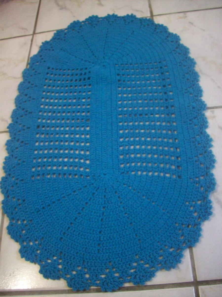 tapete simples  ivonete artes em croche  Elo7 -> Tapete Banheiro Simples