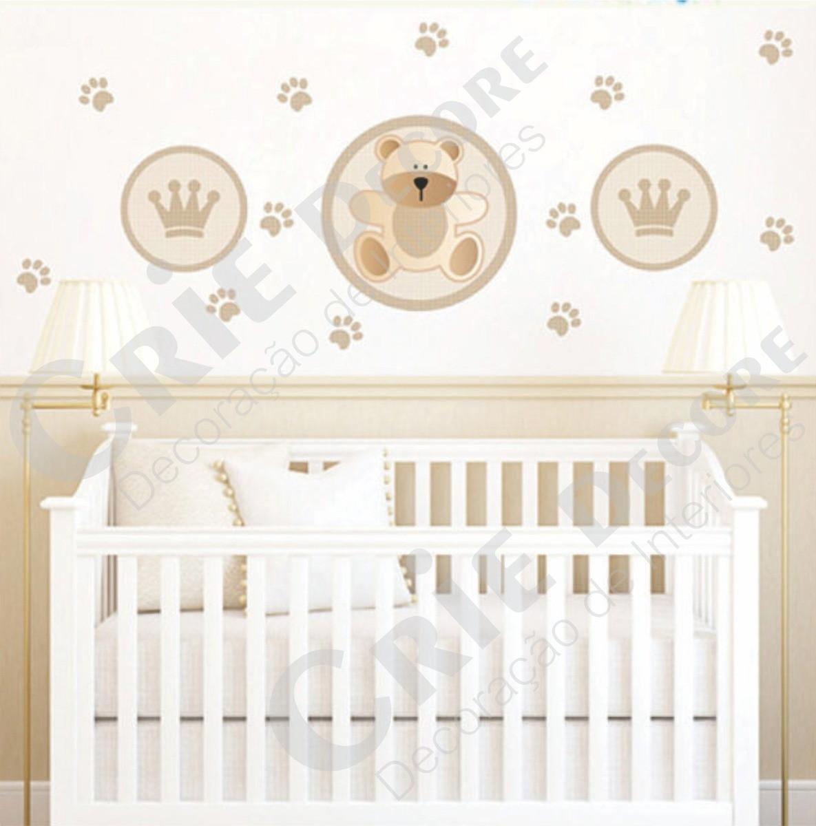 Adesivo De Parede Urso Rei Baby Crie Decore Elo7 ~ Adesivos De Parede Para Quarto De Bebe Ursinho