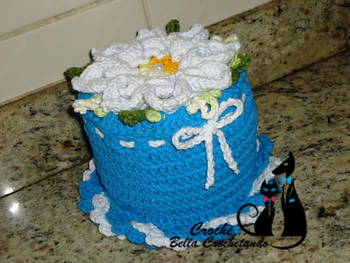 Jogo Banheiro Azul Croche : Jogo de banheiro segredo azul croch? bella