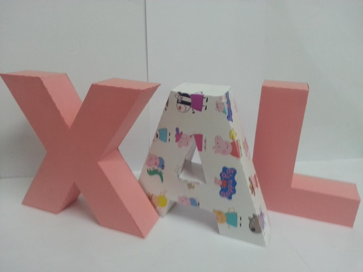 Enfeite De Papel ~ LETRAS 3D DE PAPEL ENFEITE DE MESA VILEX ART Elo7