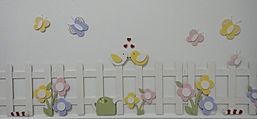Cerca com flores decoração quarto bebe  Loja da Bianca  Elo7