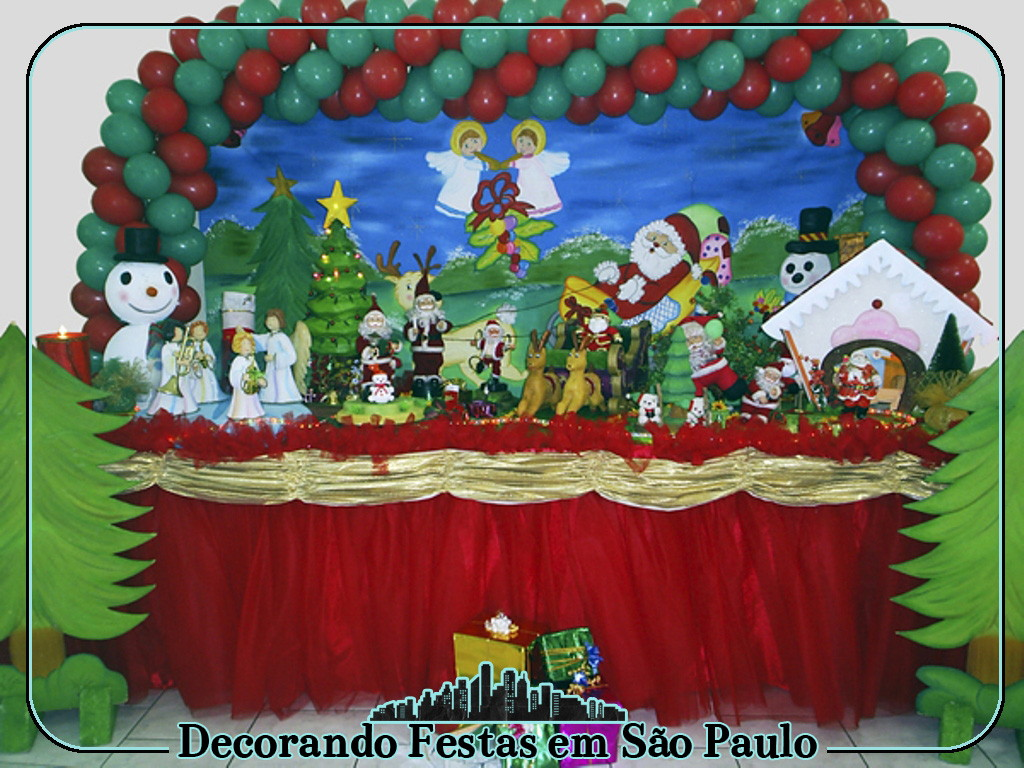 Decoraç u00e3o Mesa Natal no Elo7 Decorando Festas em S u00e3o Paulo (47FB01) -> Decoração De Natal Simples Escola