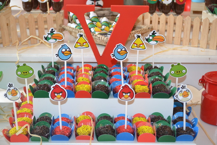 Toppers Personagens Angry Birds: Topper De Doces Angry Birds No Elo7