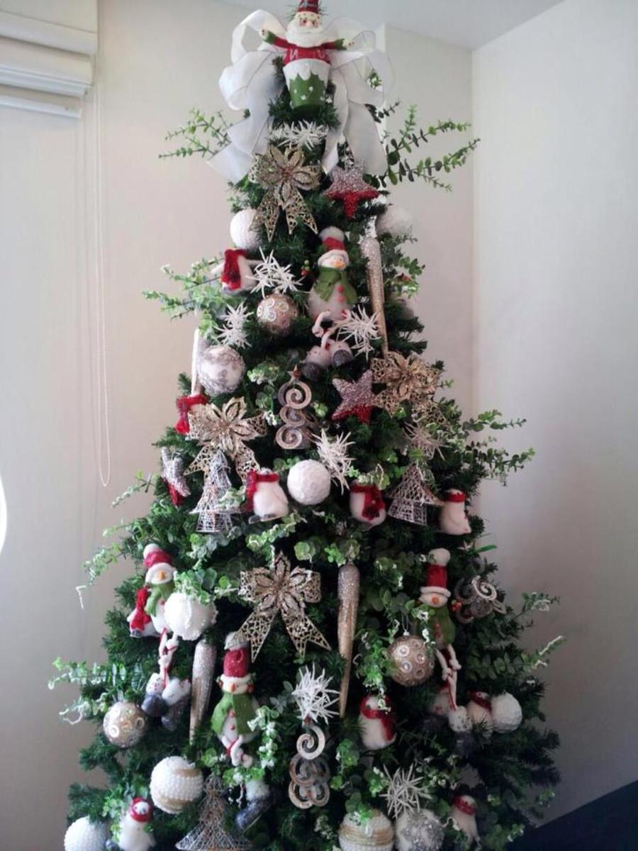 decoracao arvore de natal vermelha e dourada: 00 arvore branca e prata arvore de natal arvore branca e prata natal