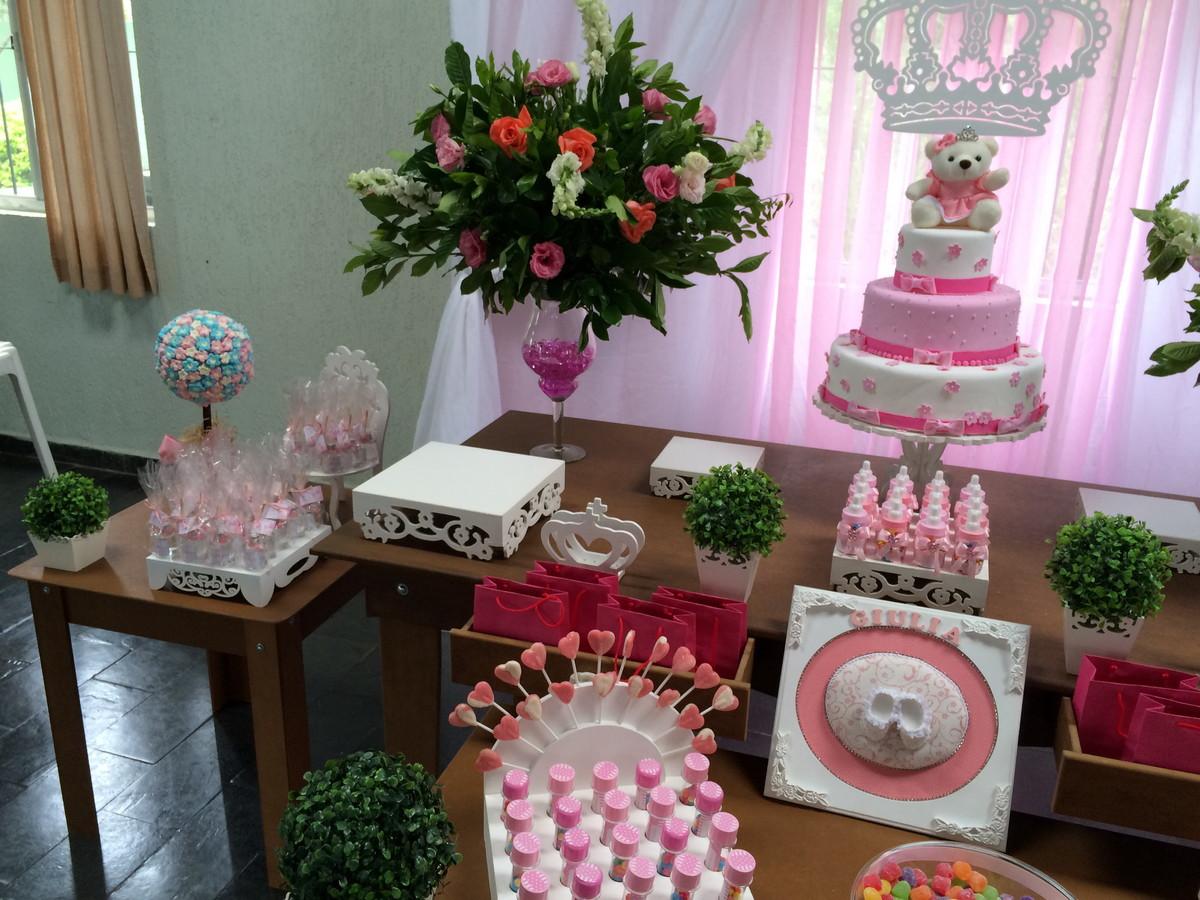 Princesa Realeza Clean Rústica Winie Festas Decorações Elo7 # Decoração De Festa Infantil Realeza